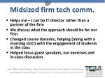 midsized firm tech comm