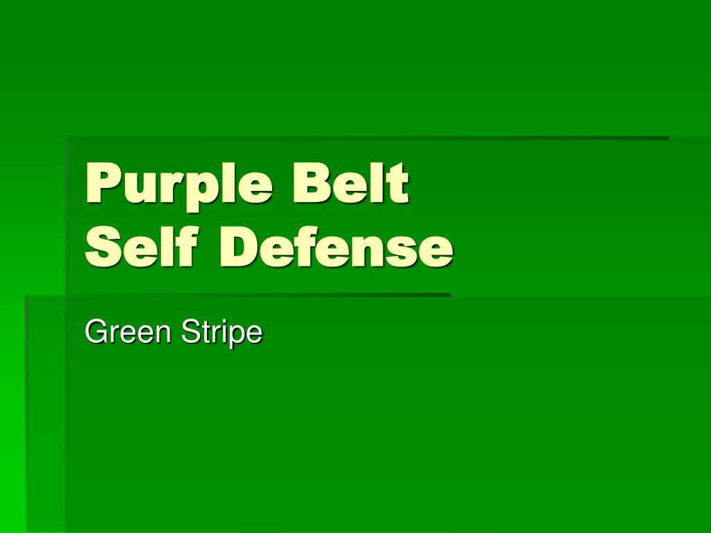 purple belt self defense l.