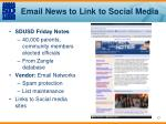 email news to link to social media