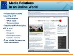 media relations in an online world