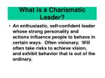 what is a charismatic leader
