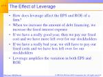 the effect of leverage