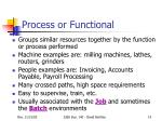 process or functional