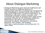 about dialogue marketing