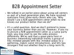b2b appointment setter