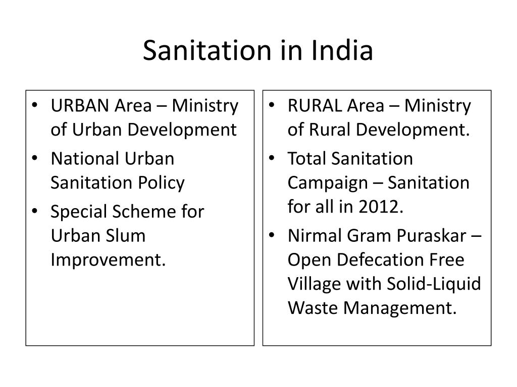 sanitation in india l.