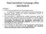 total sanitation campaign after sacosan iii