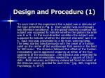design and procedure 1