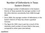 number of defendants in texas eastern district7