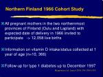 northern finland 1966 cohort study