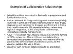 examples of collaborative relationships