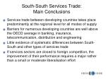 south south services trade main conclusions