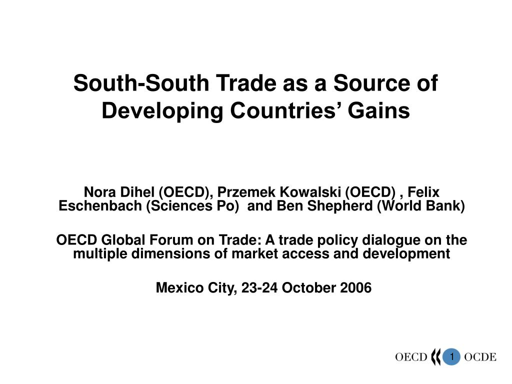 south south trade as a source of developing countries gains l.