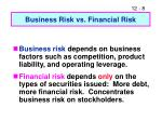 business risk vs financial risk
