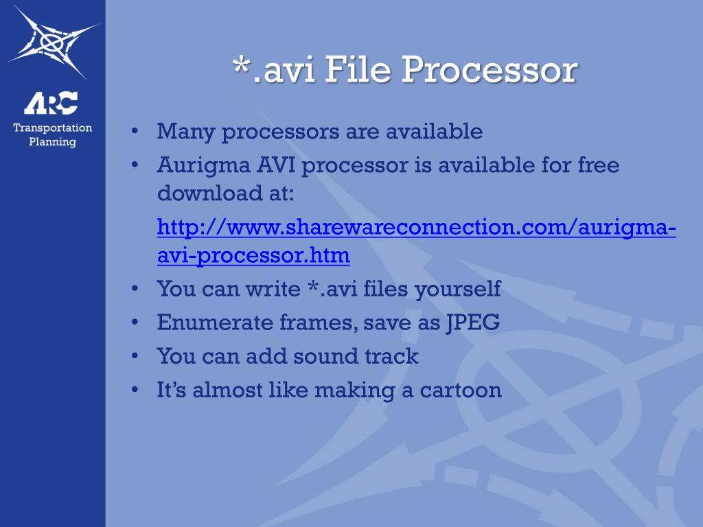*.avi File Processor