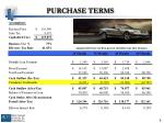 purchase terms