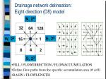 drainage network delineation eight direction d8 model
