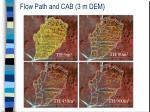 flow path and cab 3 m dem