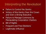 interpreting the revolution
