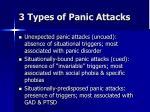 3 types of panic attacks