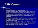 gad causes