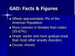 gad facts figures