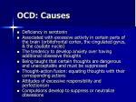 ocd causes