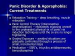 panic disorder agoraphobia current treatments
