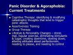 panic disorder agoraphobia current treatments15