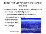 supported conversation and partner training