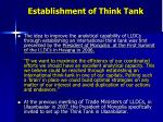 establishment of think tank