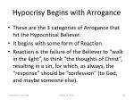 hypocrisy begins with arrogance83