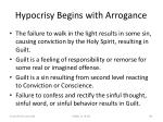 hypocrisy begins with arrogance84