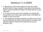 matthew 7 1 5 amp