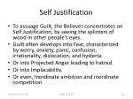 self justification