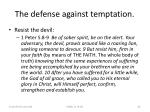 the defense against temptation42