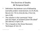 the doctrine of deaths 6 temporal death
