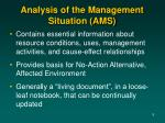 analysis of the management situation ams