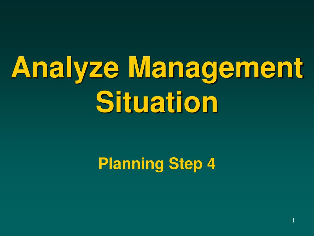 analyze management situation l.