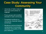 case study assessing your community