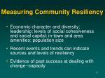 measuring community resiliency