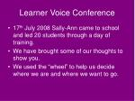 learner voice conference