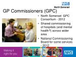 gp commissioners gpc