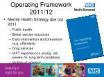 operating framework 2011 12