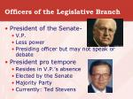 officers of the legislative branch9