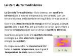 lei zero da termodin mica