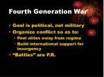 fourth generation war