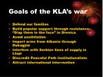 goals of the kla s war