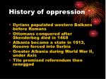history of oppression