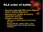 kla order of battle